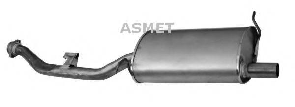 Глушитель выхлопных газов конечный ASMET 12.016