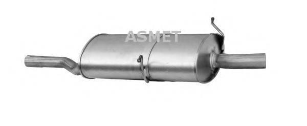 Глушитель выхлопных газов конечный ASMET 12.028