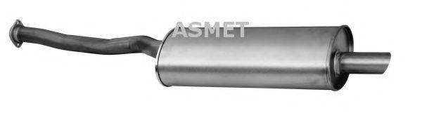 Глушитель выхлопных газов конечный ASMET 12.035