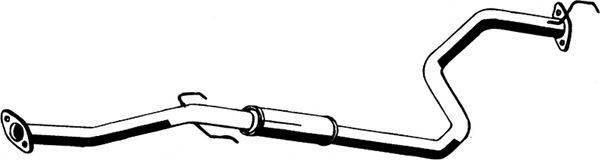 Средний глушитель выхлопных газов ASMET 13.025
