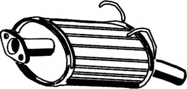 Глушитель выхлопных газов конечный ASMET 13.019