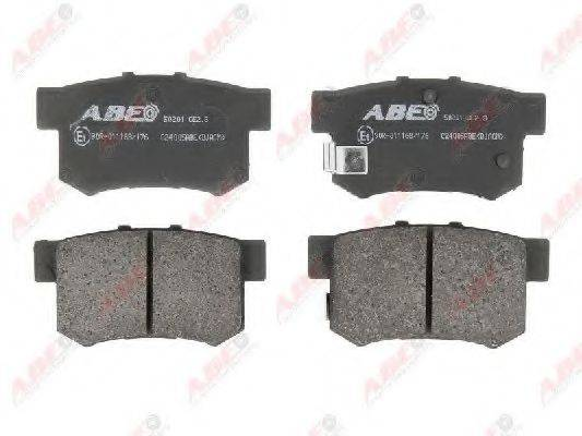 Комплект тормозных колодок, дисковый тормоз ABE C24005ABE