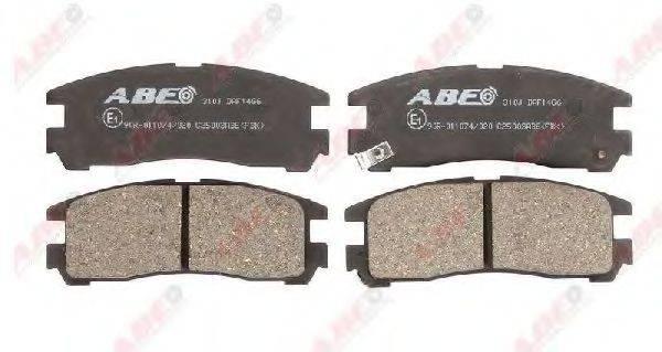 Комплект тормозных колодок, дисковый тормоз ABE C25003ABE