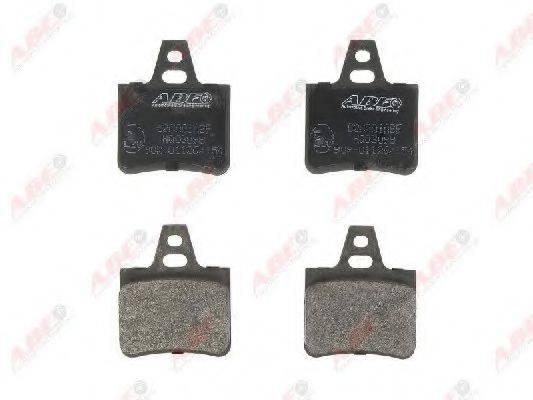 Комплект тормозных колодок, дисковый тормоз ABE C2C001ABE