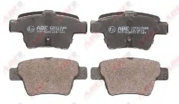 Комплект тормозных колодок, дисковый тормоз ABE C2C013ABE