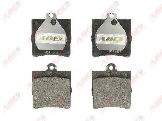 Комплект тормозных колодок, дисковый тормоз ABE C2M014ABE