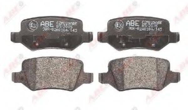 Комплект тормозных колодок, дисковый тормоз ABE C2M029ABE