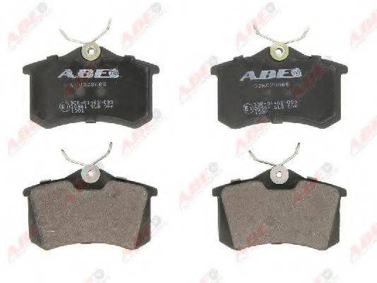Комплект тормозных колодок, дисковый тормоз ABE C2W028ABE