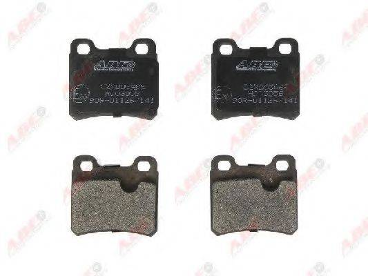 Комплект тормозных колодок, дисковый тормоз ABE C2X003ABE
