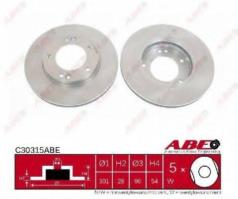 Тормозной диск ABE C30315ABE