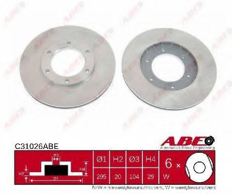 Тормозной диск ABE C31026ABE