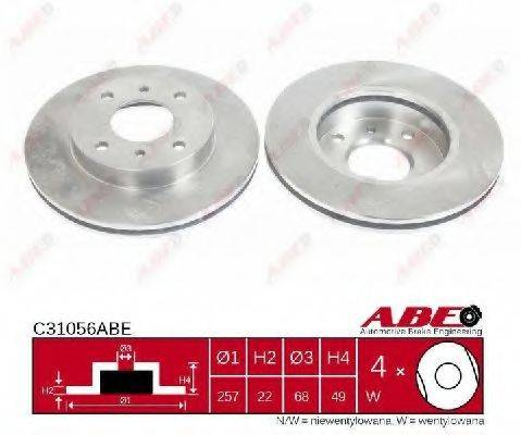 Тормозной диск ABE C31056ABE