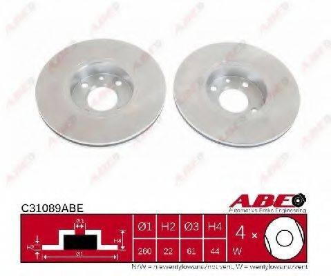 Тормозной диск ABE C31089ABE