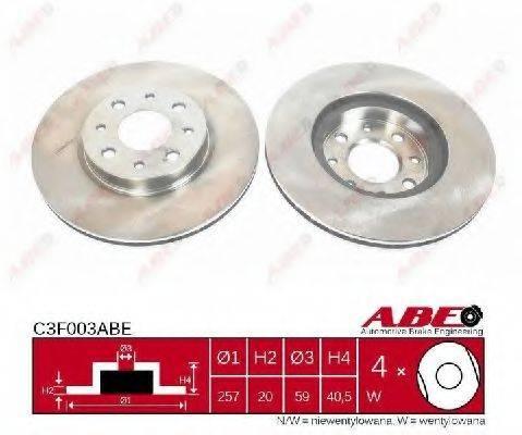 ABE C3F003ABE Тормозной диск