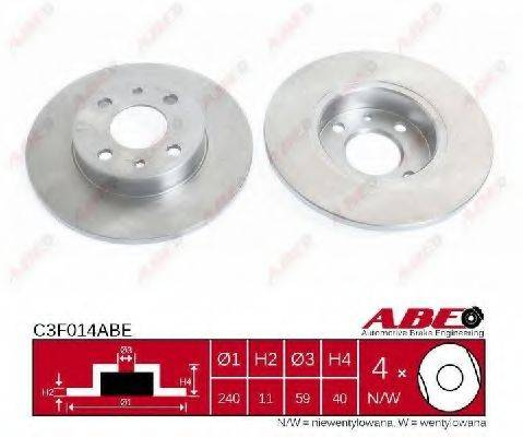 ABE C3F014ABE Тормозной диск