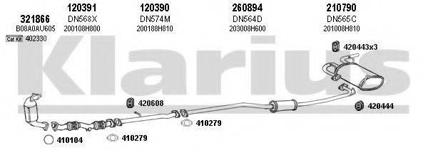 KLARIUS 270451E Система выпуска ОГ