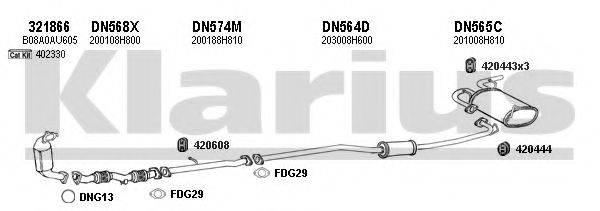KLARIUS 270451U Система выпуска ОГ