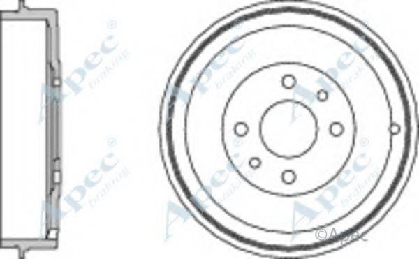 APEC BRAKING DRM9523 Тормозной барабан