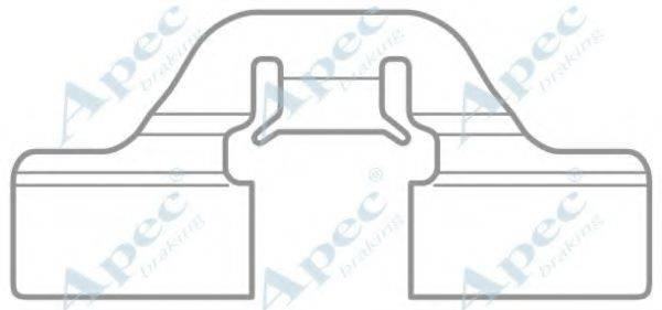 APEC BRAKING KIT1044 Комплектующие, тормозные колодки