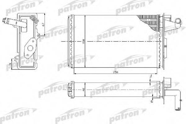 PATRON PRS2022 Теплообменник, отопление салона