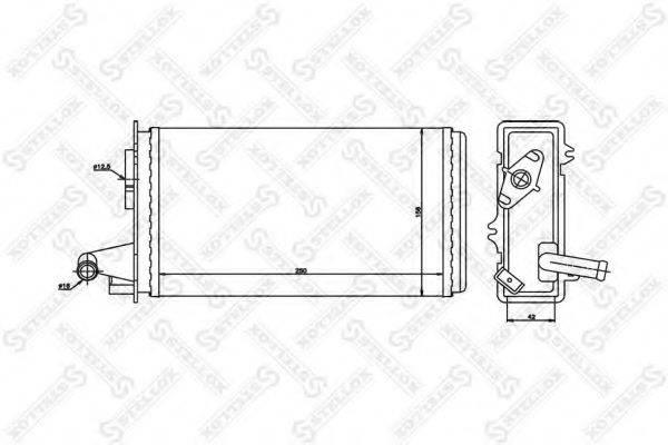 STELLOX 1035006SX Теплообменник, отопление салона