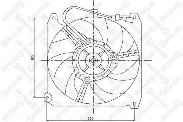 STELLOX 2999133SX Вентилятор, охлаждение двигателя