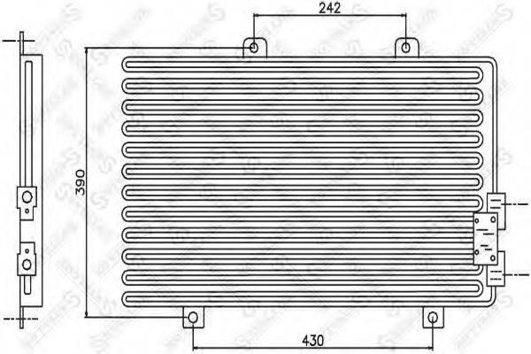 STELLOX 1045326SX Конденсатор, кондиционер