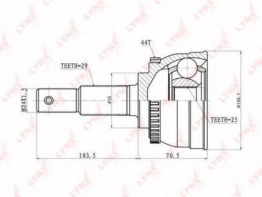 LYNXAUTO CO5301A Шарнирный комплект, приводной вал