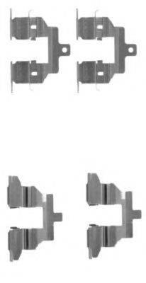 HELLA PAGID 8DZ355203791 Комплектующие, колодки дискового тормоза