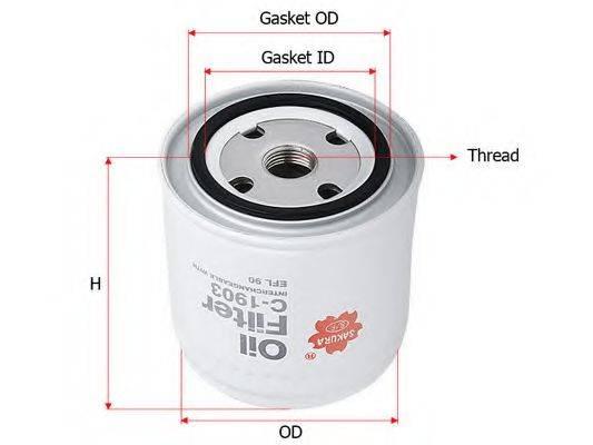 SAKURA AUTOMOTIVE C1903 Масляный фильтр