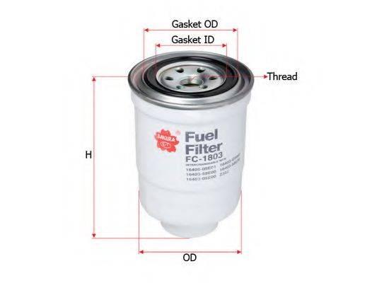 SAKURA AUTOMOTIVE FC1803 Топливный фильтр
