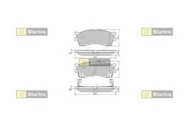 STARLINE BDS401 Комплект тормозных колодок, дисковый тормоз