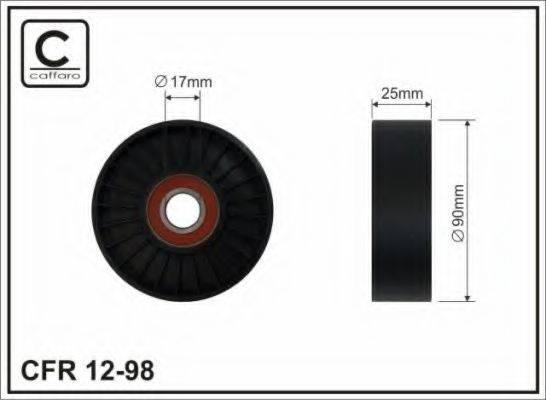 Натяжной ролик, поликлиновой  ремень CAFFARO 12-98