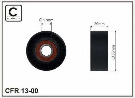 Натяжной ролик, поликлиновой  ремень CAFFARO 13-00