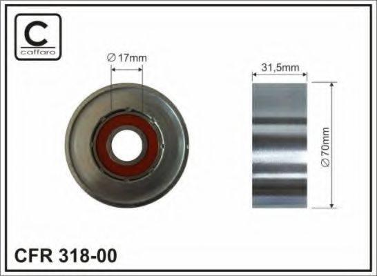 Натяжной ролик, поликлиновой  ремень CAFFARO 318-00