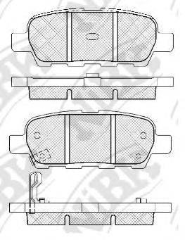 NIBK PN2466 Комплект тормозных колодок, дисковый тормоз