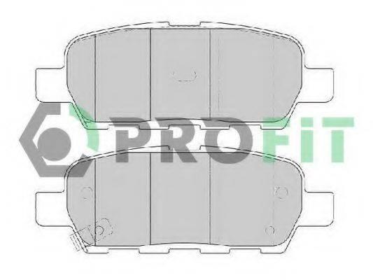 PROFIT 50001693 Комплект тормозных колодок, дисковый тормоз