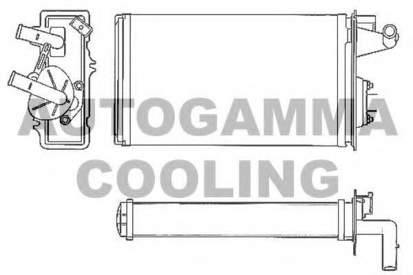 AUTOGAMMA 101621 Теплообменник, отопление салона