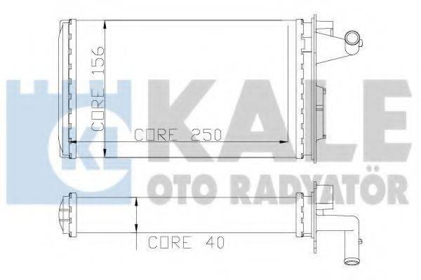 KALE OTO RADYATOR 116600 Теплообменник, отопление салона
