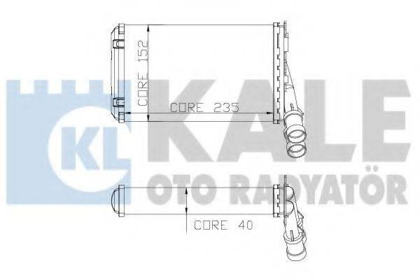 Теплообменник, отопление салона KALE OTO RADYATOR 319100