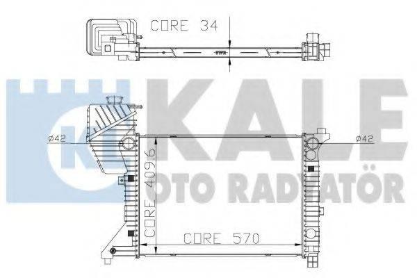 Радиатор, охлаждение двигателя KALE OTO RADYATOR 319900