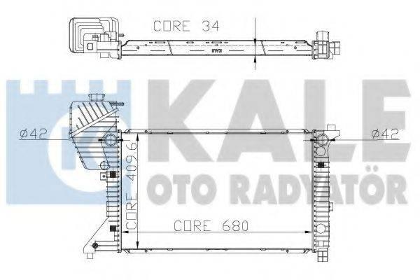 Радиатор, охлаждение двигателя KALE OTO RADYATOR 320000