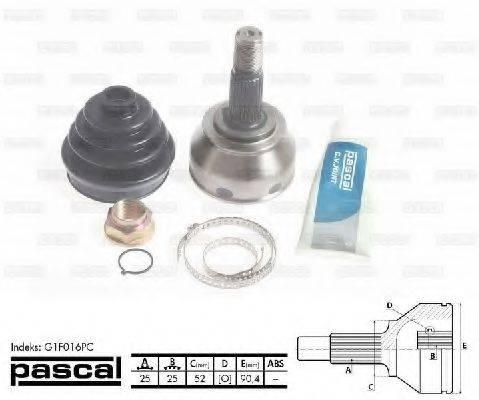 PASCAL G1F016PC Шарнирный комплект, приводной вал