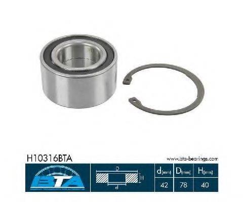 Комплект подшипника ступицы колеса BTA H10316BTA