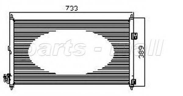 PARTS-MALL PXNCW022 Конденсатор, кондиционер