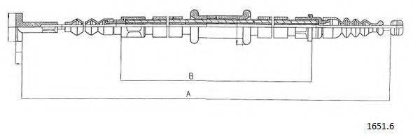 CABOR 16516 Трос, стояночная тормозная система