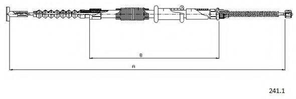 CABOR 2411 Трос, стояночная тормозная система