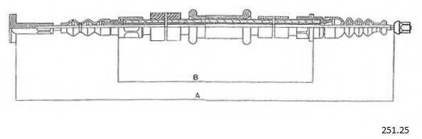 CABOR 25125 Трос, стояночная тормозная система