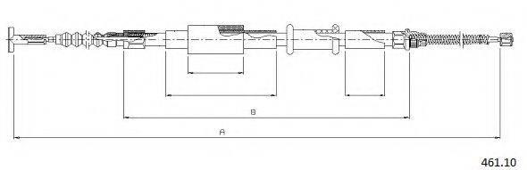CABOR 46110 Трос, стояночная тормозная система