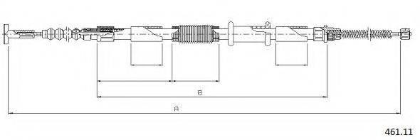 CABOR 46111 Трос, стояночная тормозная система